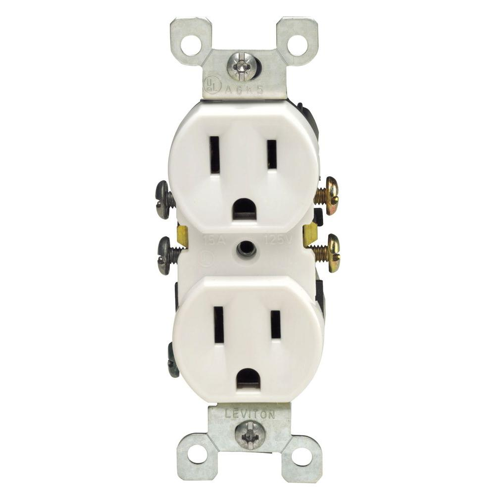 Leviton 5320 sw residential grade outlet white 15a 125v nema 5 15r 5320 sw publicscrutiny Image collections