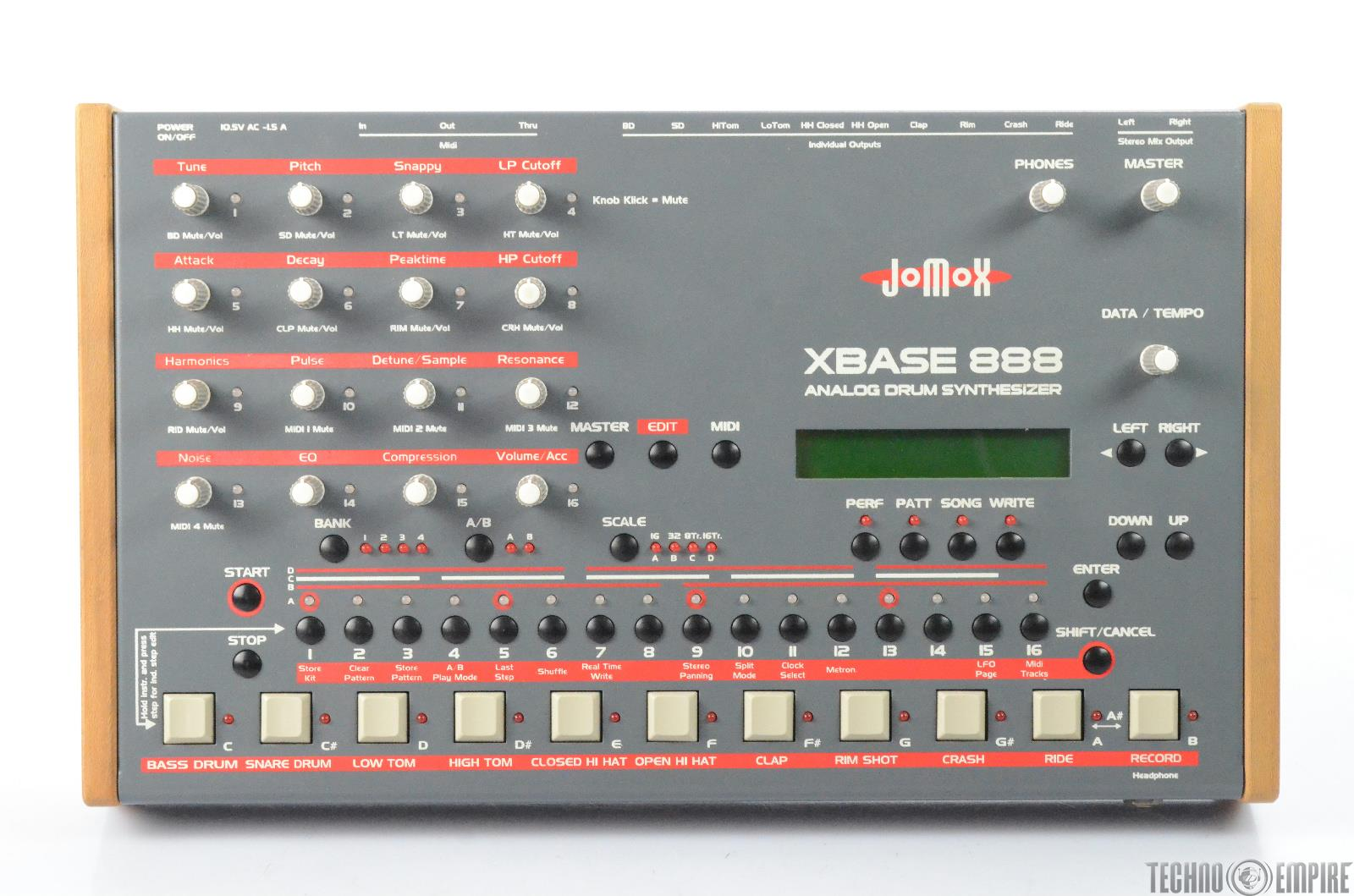 JoMox XBASE 888 Analog Drum Synthesizer Sequencer #28448