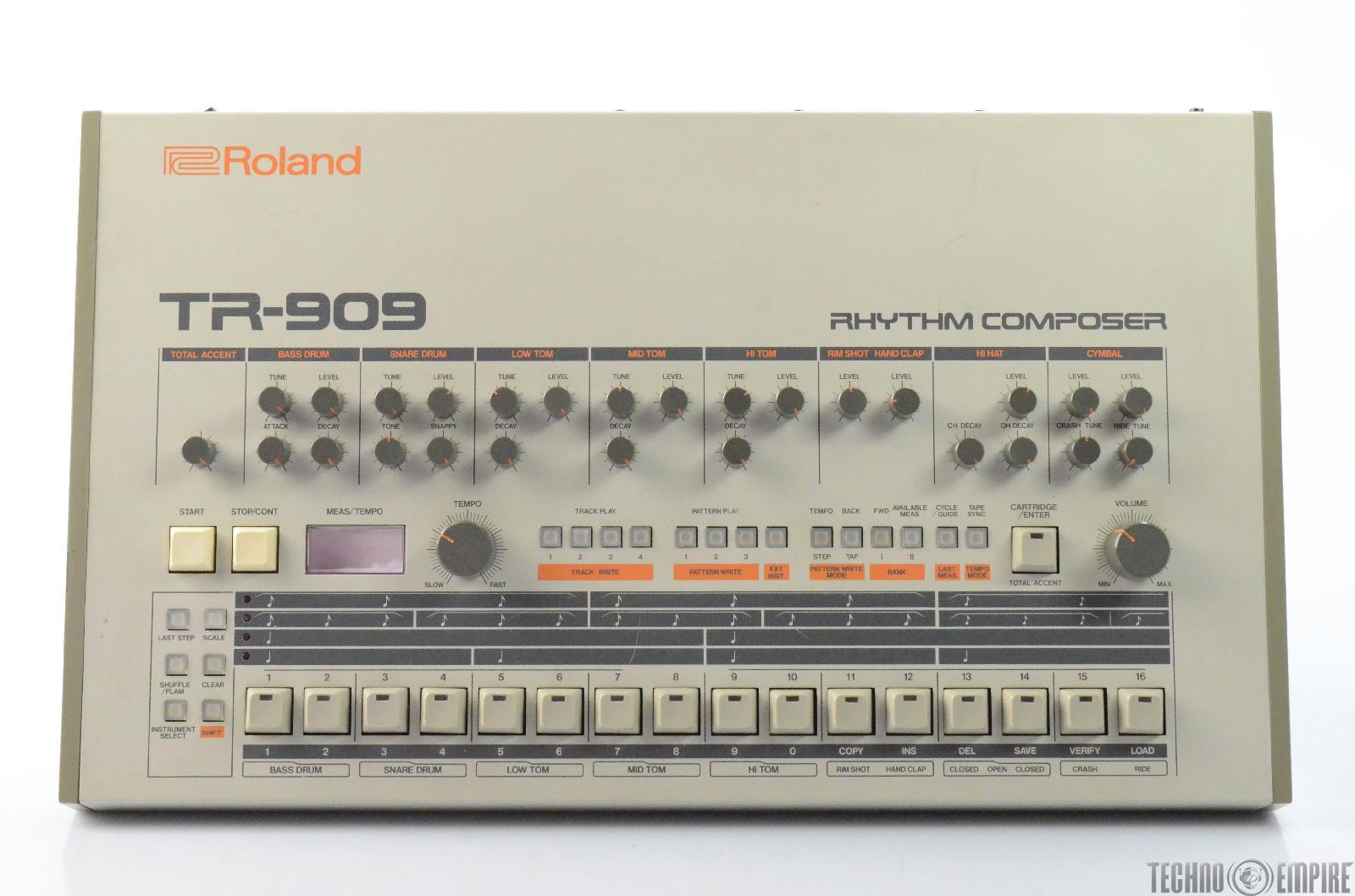 Roland TR-909 Analog Drum Machine Blue Lights Forat Refurb #28449