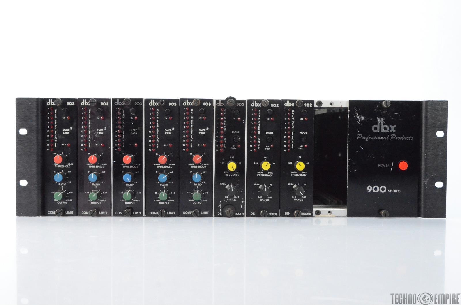 DBX 900 Series Chassis w/ 3 DBX 902 De-Essers 5 903 DBX Compressors #28477
