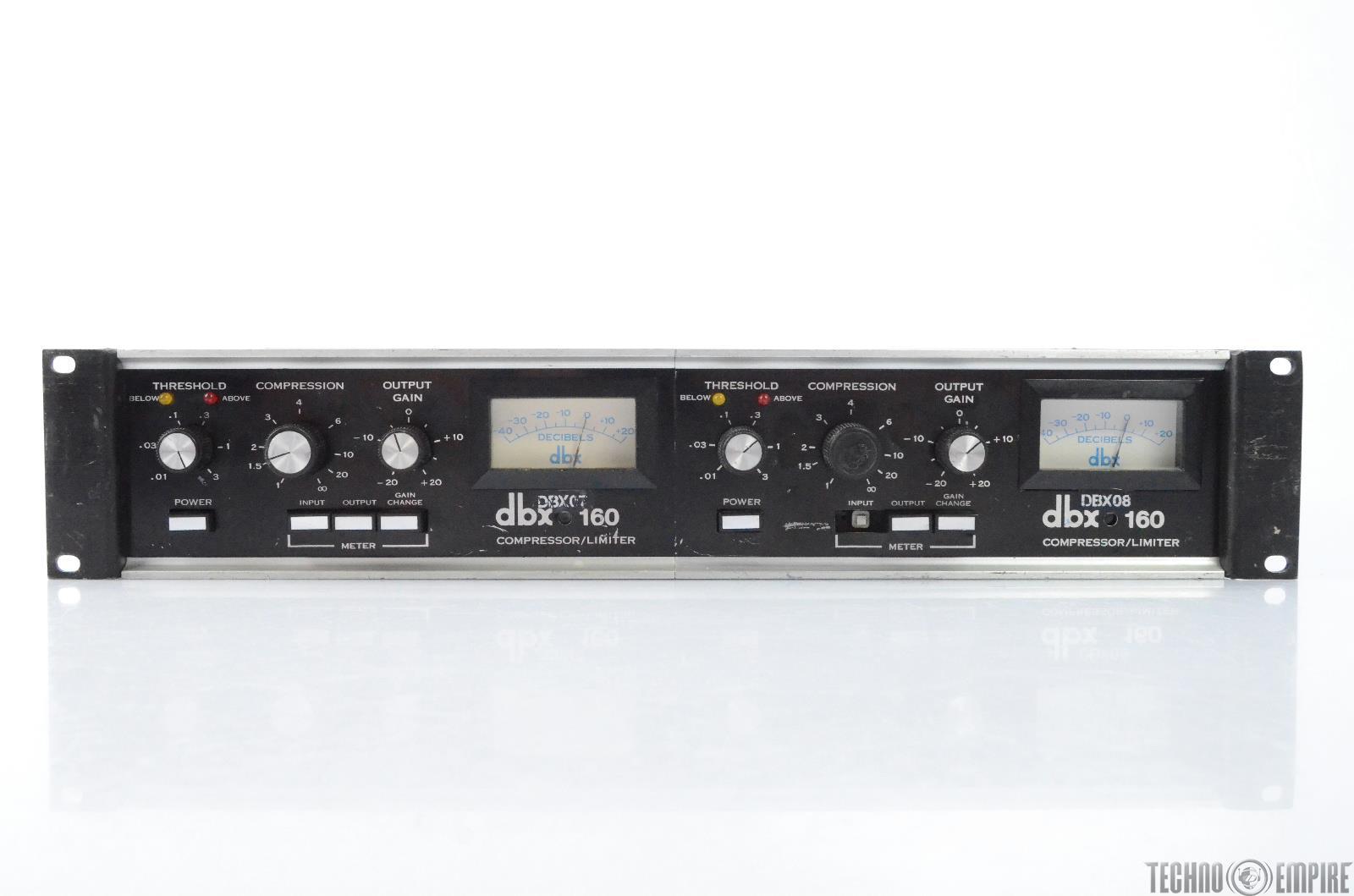 DBX 160 VU Compressor Limiter Stereo Pair The Record Plant #28463