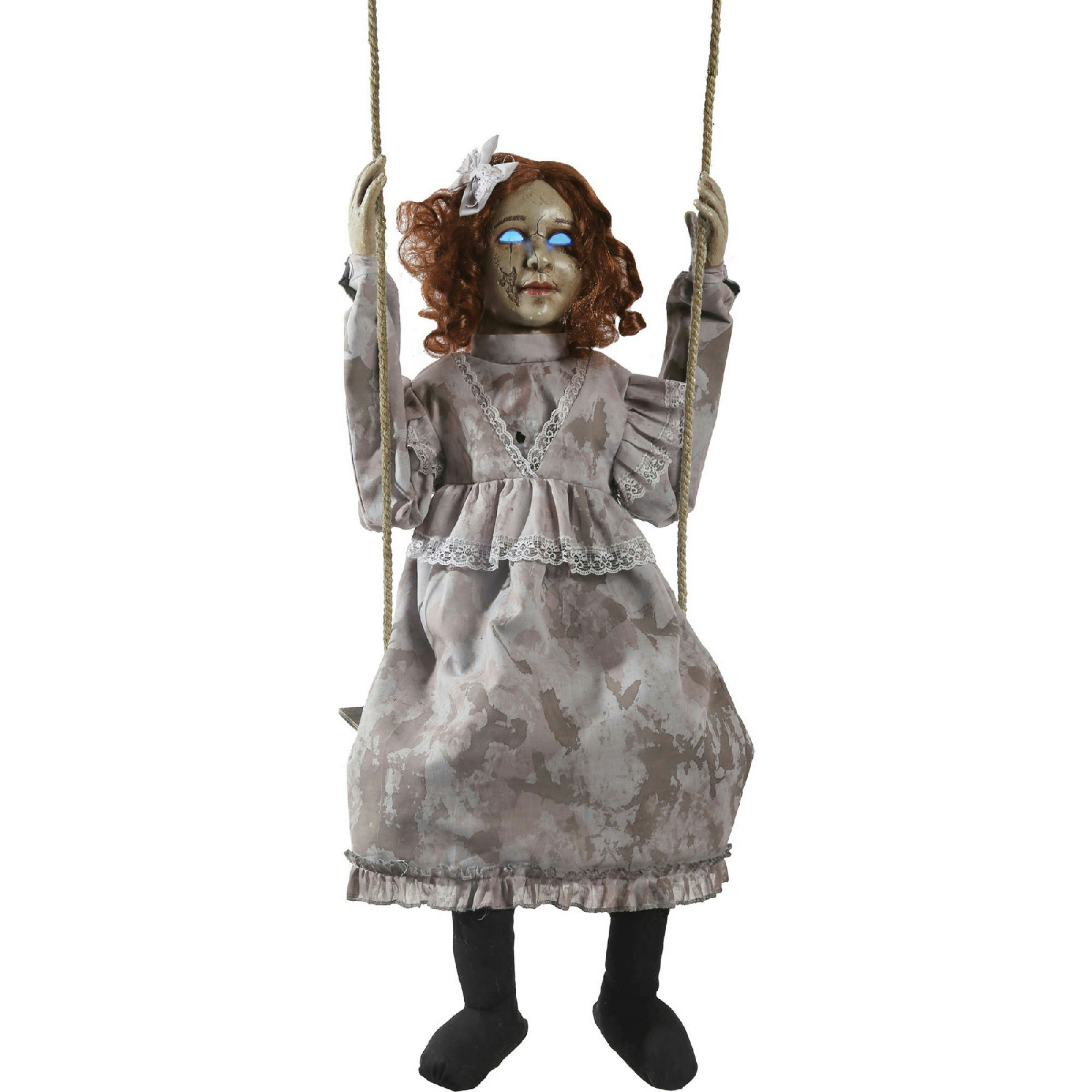 Swinging decrepit doll animated halloween decoration for Animated halloween decoration