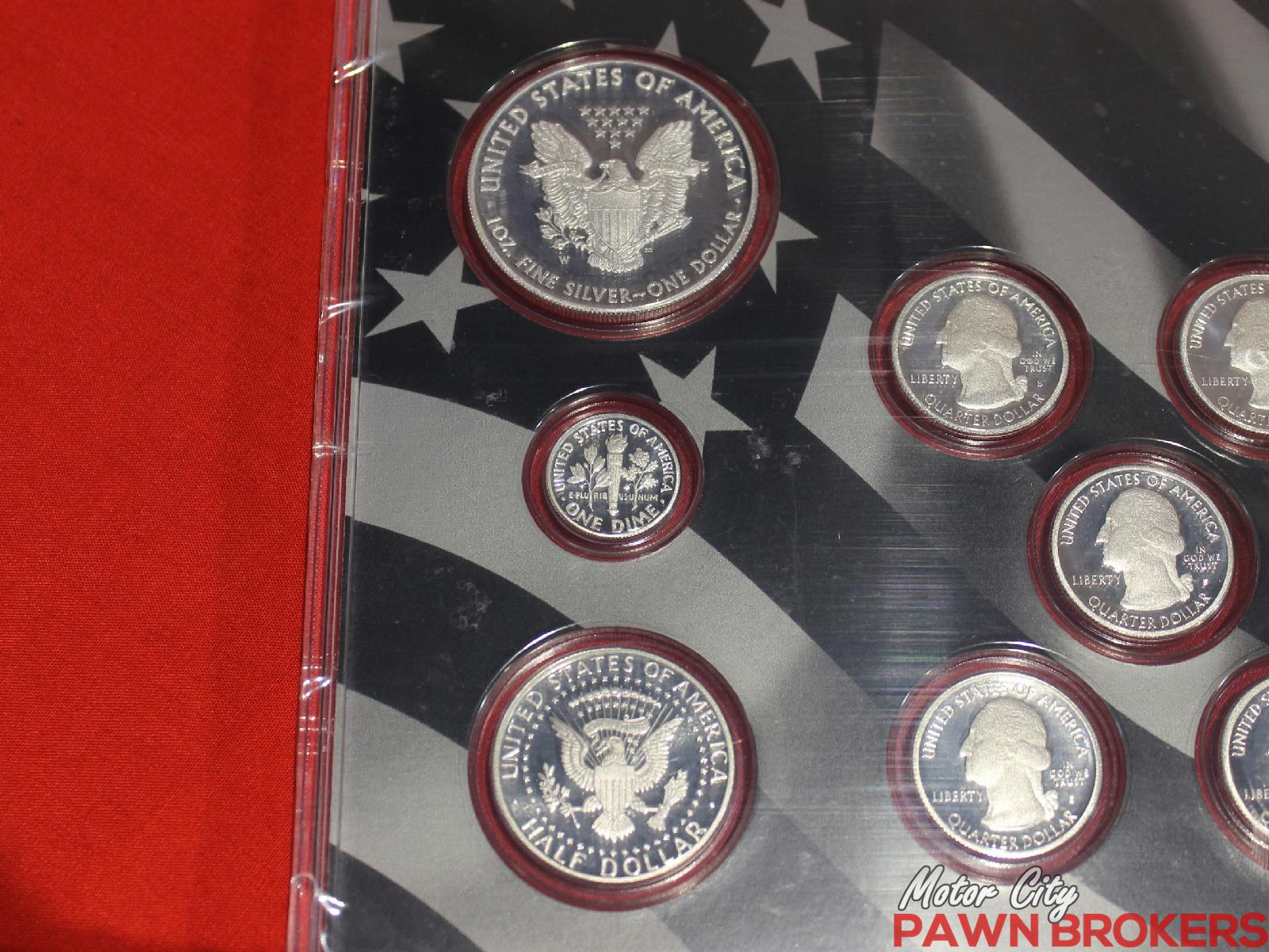 U s mint 2013 limited edition silver proof set for Motor city pawn shop
