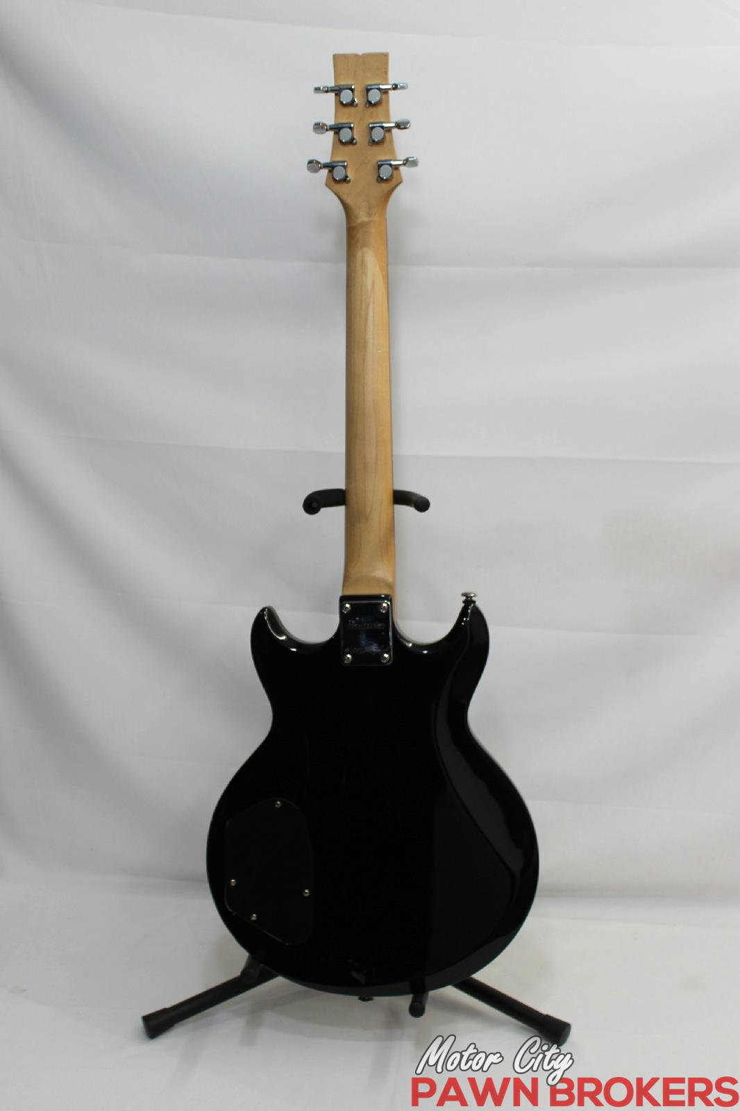 Ibanez gio gax70 black night right handed 6 string for Motor city pawn shop