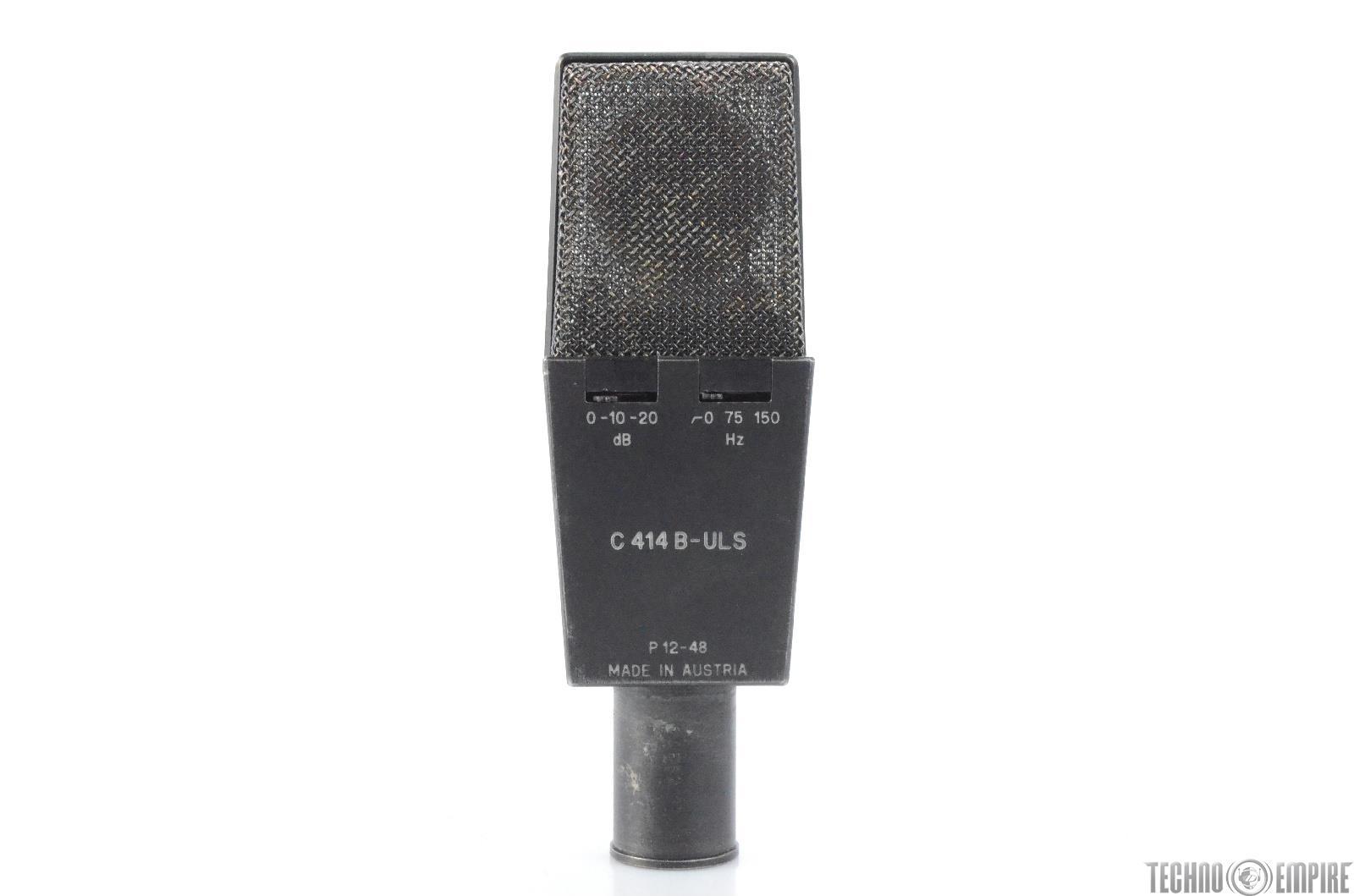 1986 akg c414 b uls multi pattern cardioid microphone 28483 ebay. Black Bedroom Furniture Sets. Home Design Ideas