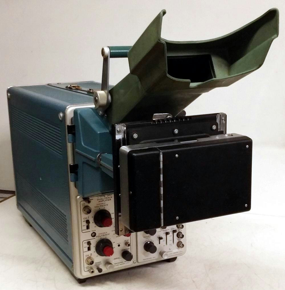 Amp On An Oscilloscope : Tektronix type storage oscilloscope a amp b base c