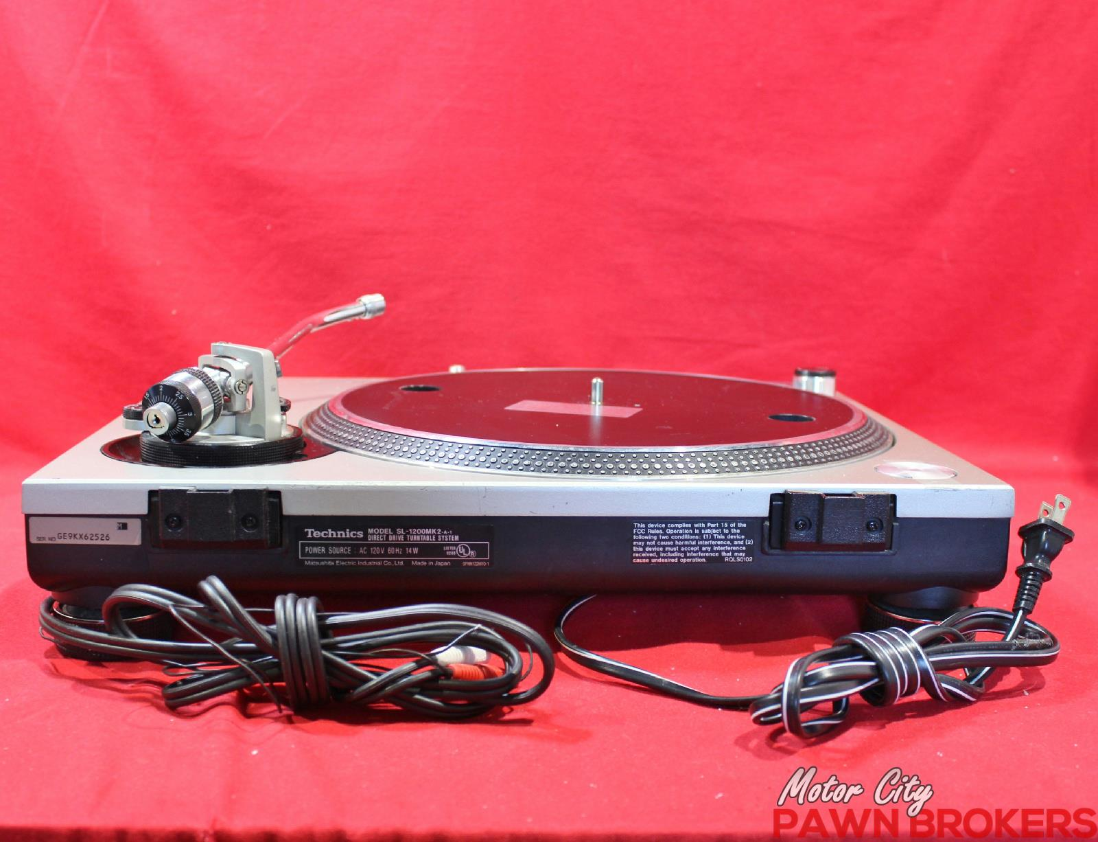 Technics Sl 1200 Mkii Direct Drive 33 45 Silver