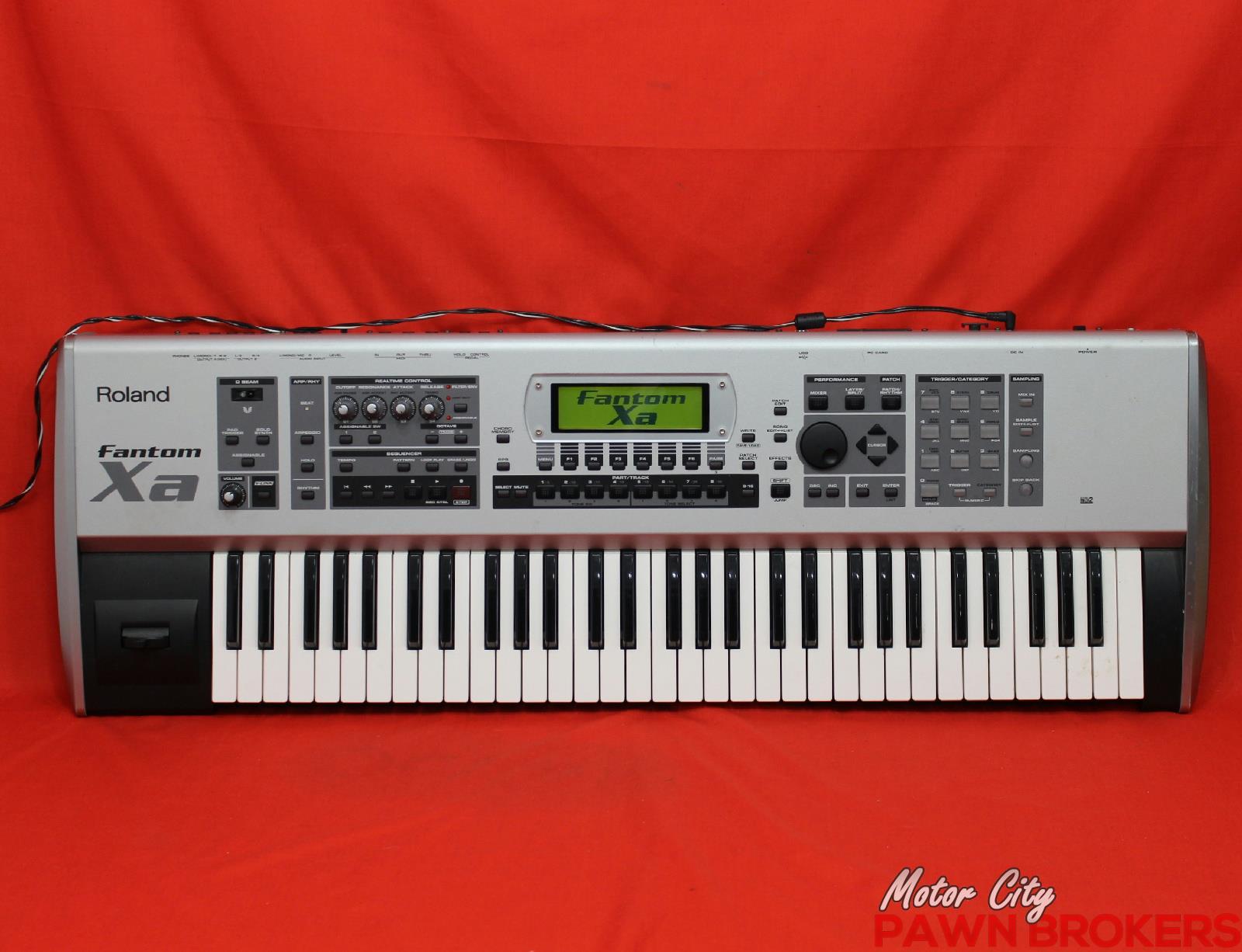 roland fantom xa 61 key sequencer 128 voice keyboard workstation as is. Black Bedroom Furniture Sets. Home Design Ideas