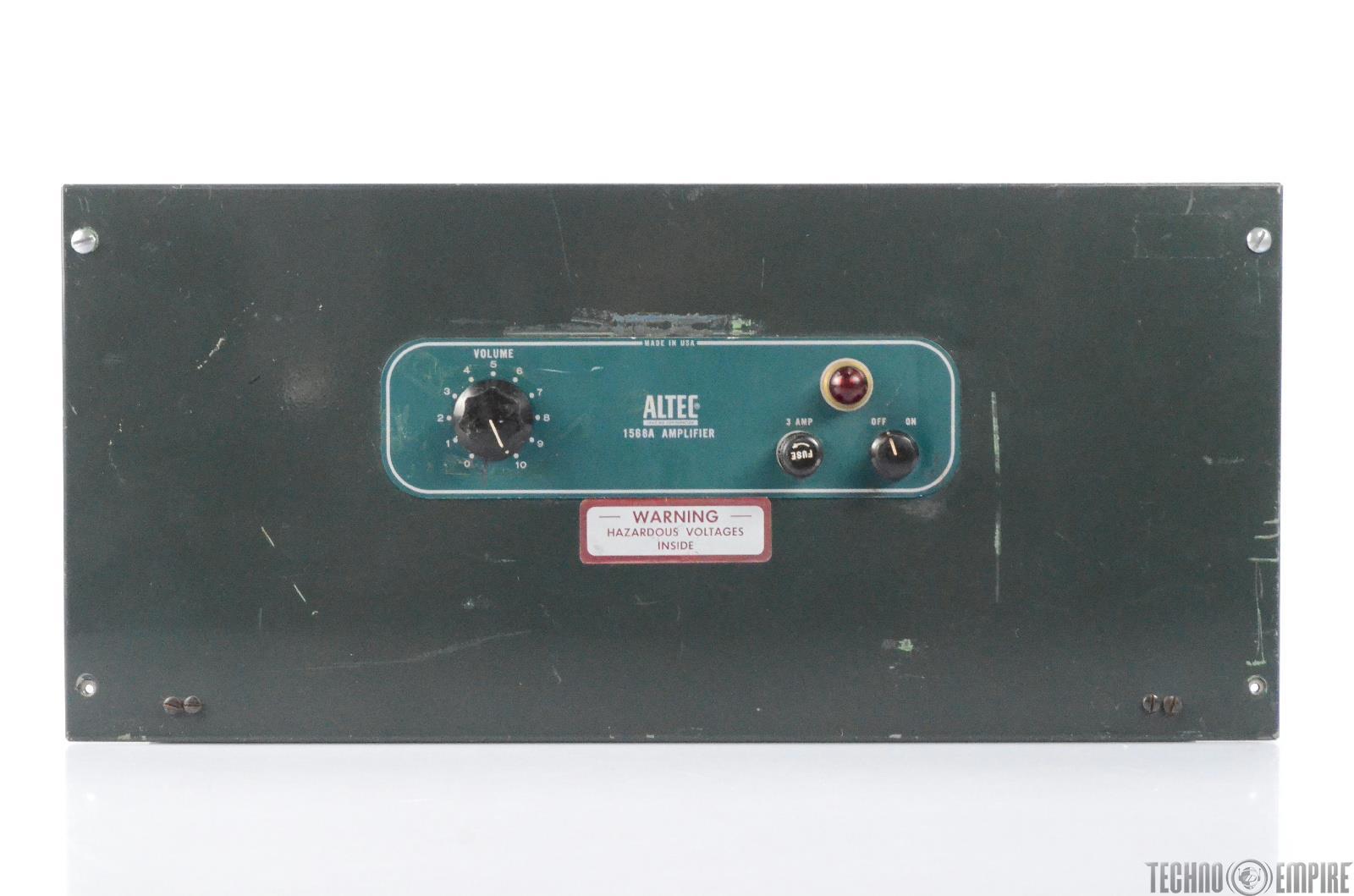 Altec 1568A Tube Power Amplifier w/15095A Transformers Fairfax Recordings #28639