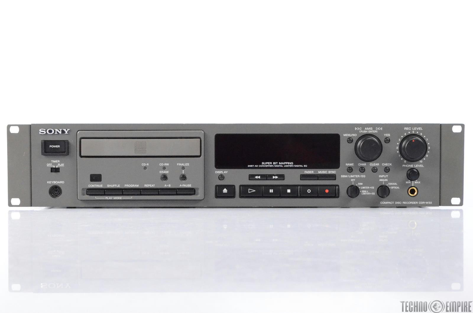 Sony CDR-W33 Compact Disc CD Recorder Fairfax Recordings #28662
