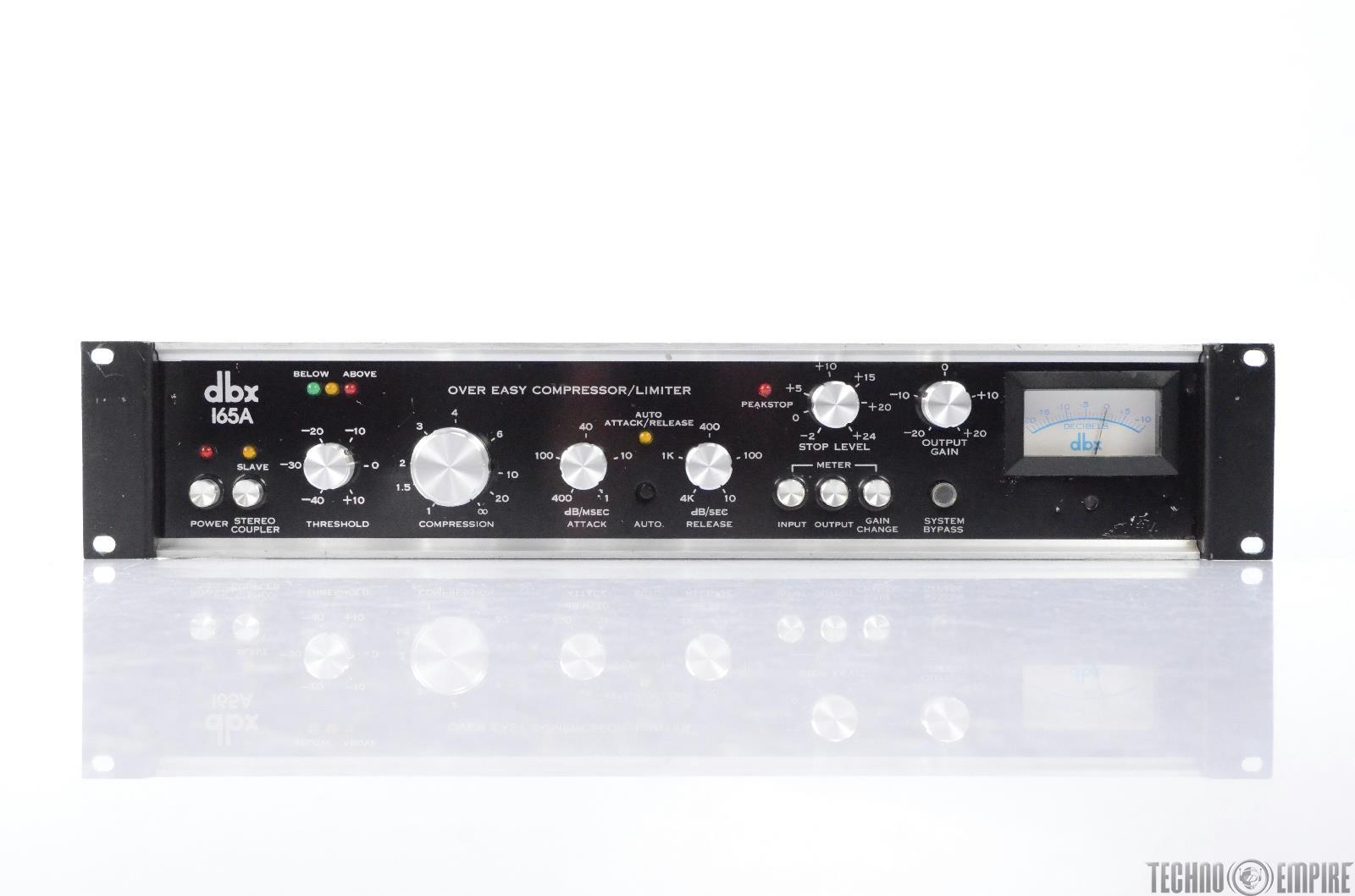DBX 165A Over Easy Compressor Limiter Fairfax Recordings #28647