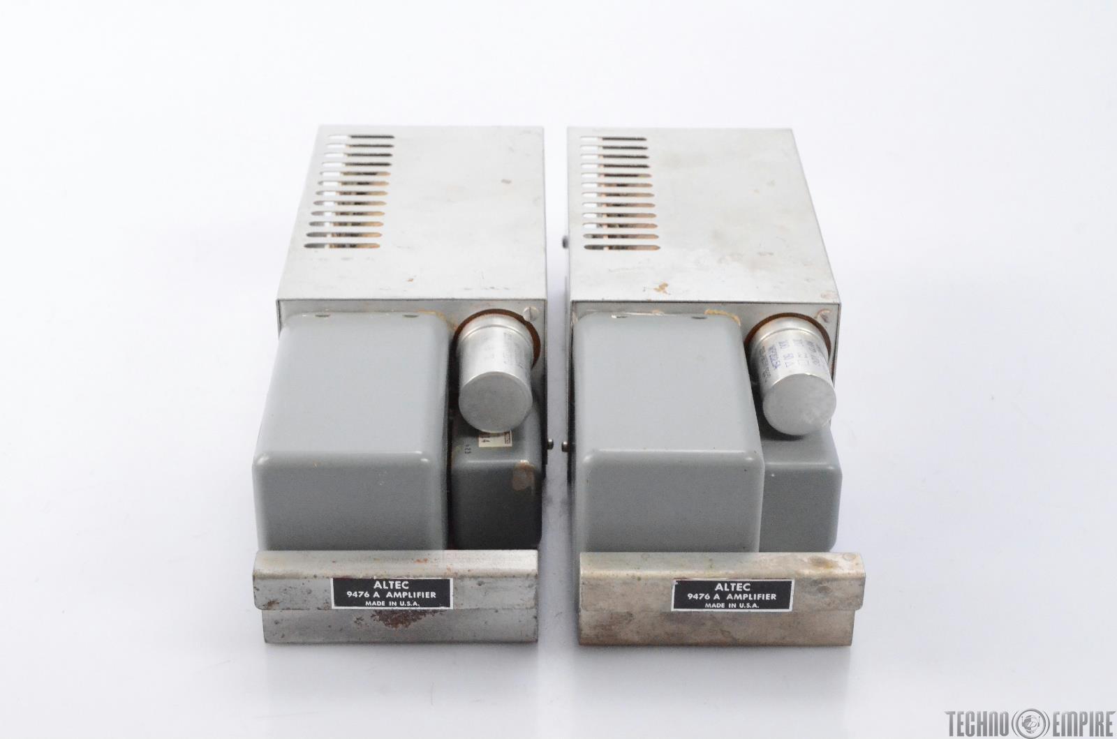 2 Altec 9476 A Monitor Cue Power Amplifier 9476A Fairfax Recordings #28580