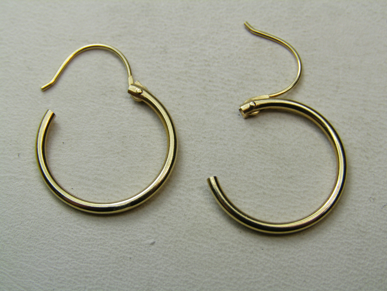 14k yellow gold jewelry continuous hoop earrings thin