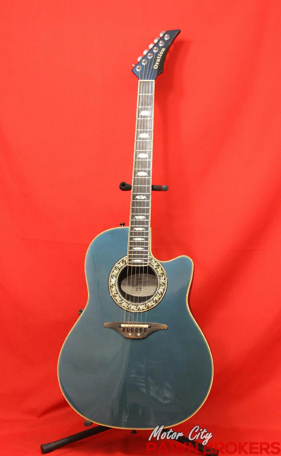 ovation 1989 8 6 string right hand made in usa acoustic electric guitar ebay. Black Bedroom Furniture Sets. Home Design Ideas