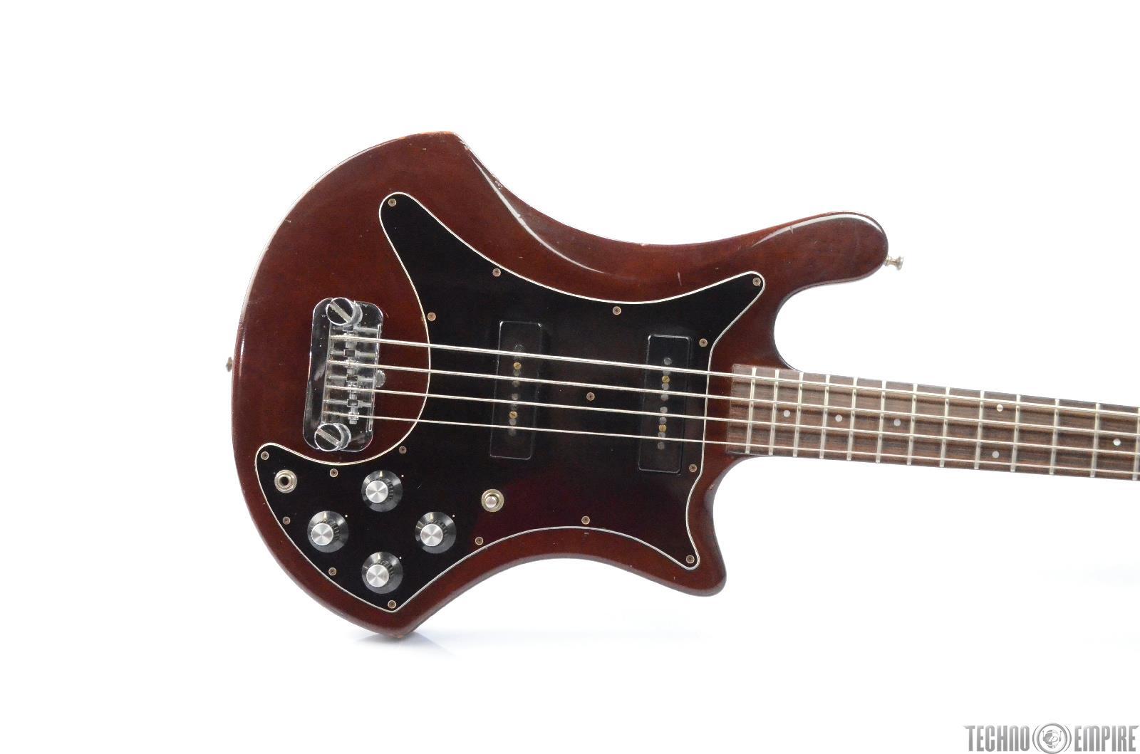 1978 Guild B-302 4 String Electric Bass Brown w/ Crossrock Gig Bag #28890
