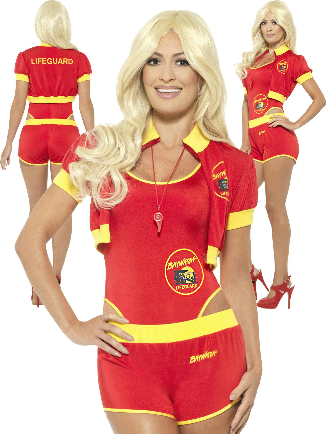 5a5a3e142973 Details about Smiffys Women s Baywatch Lifeguard Sexy Adult 90s tv Costume  Size XS 2-4