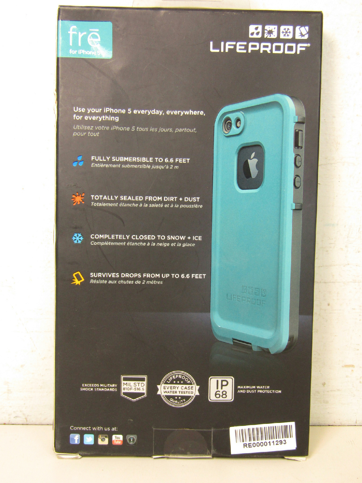 lifeproof fre iphone 5s blue