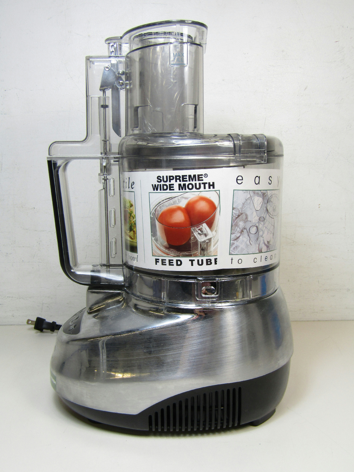 * Cuisinart Prep 9 Cup Food Processor Brushed Stainless Steel Kitchen | eBay