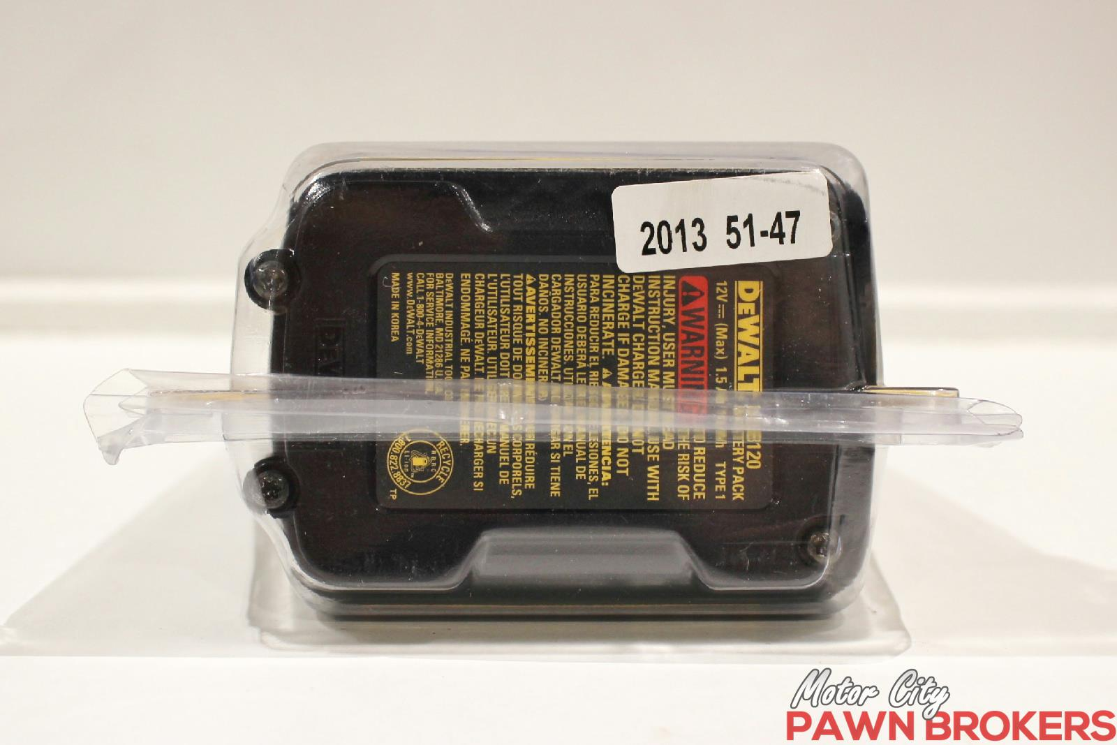 Dewalt dcb120 12v max 1 5a lithium ion battery pack for Motor city pawn shop
