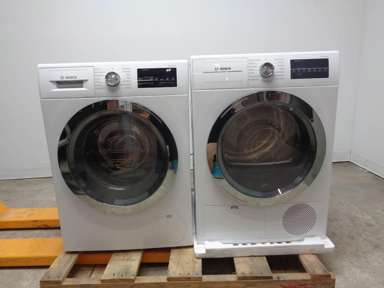 Bosch Washer And Dryer ~ Bosch series washer and dryer set white stacking kit