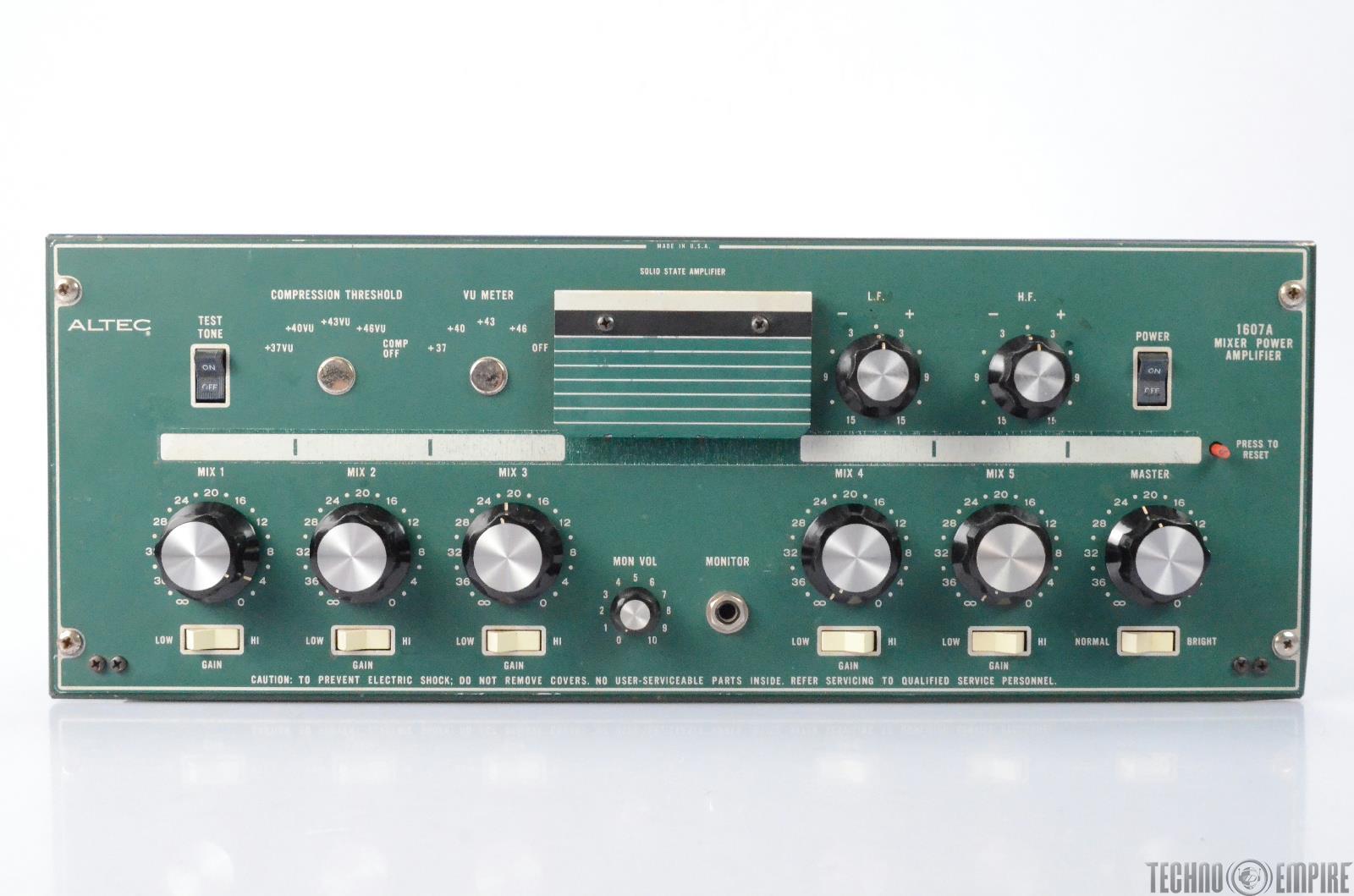 Altec 1607A Mono Mixer Power Solid State Amplifier Fairfax Recordings #28669