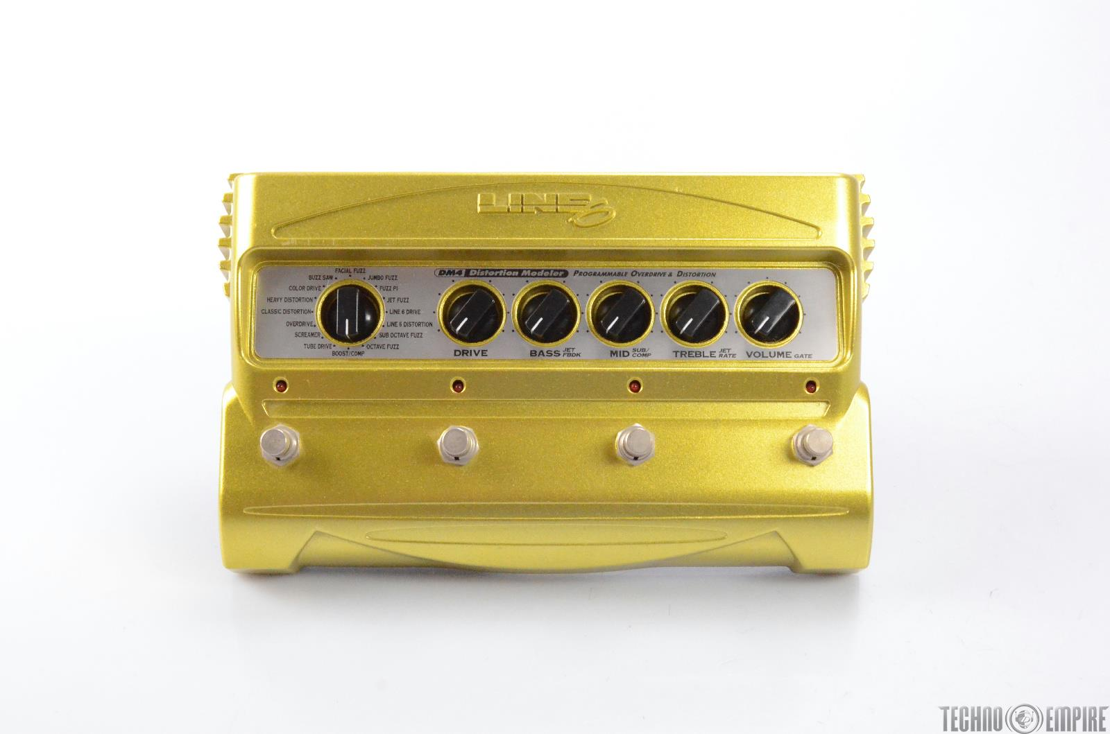 Line 6 DM4 Distortion Modeler Multi-Effect Stombox W/ Expression Pedal #28958