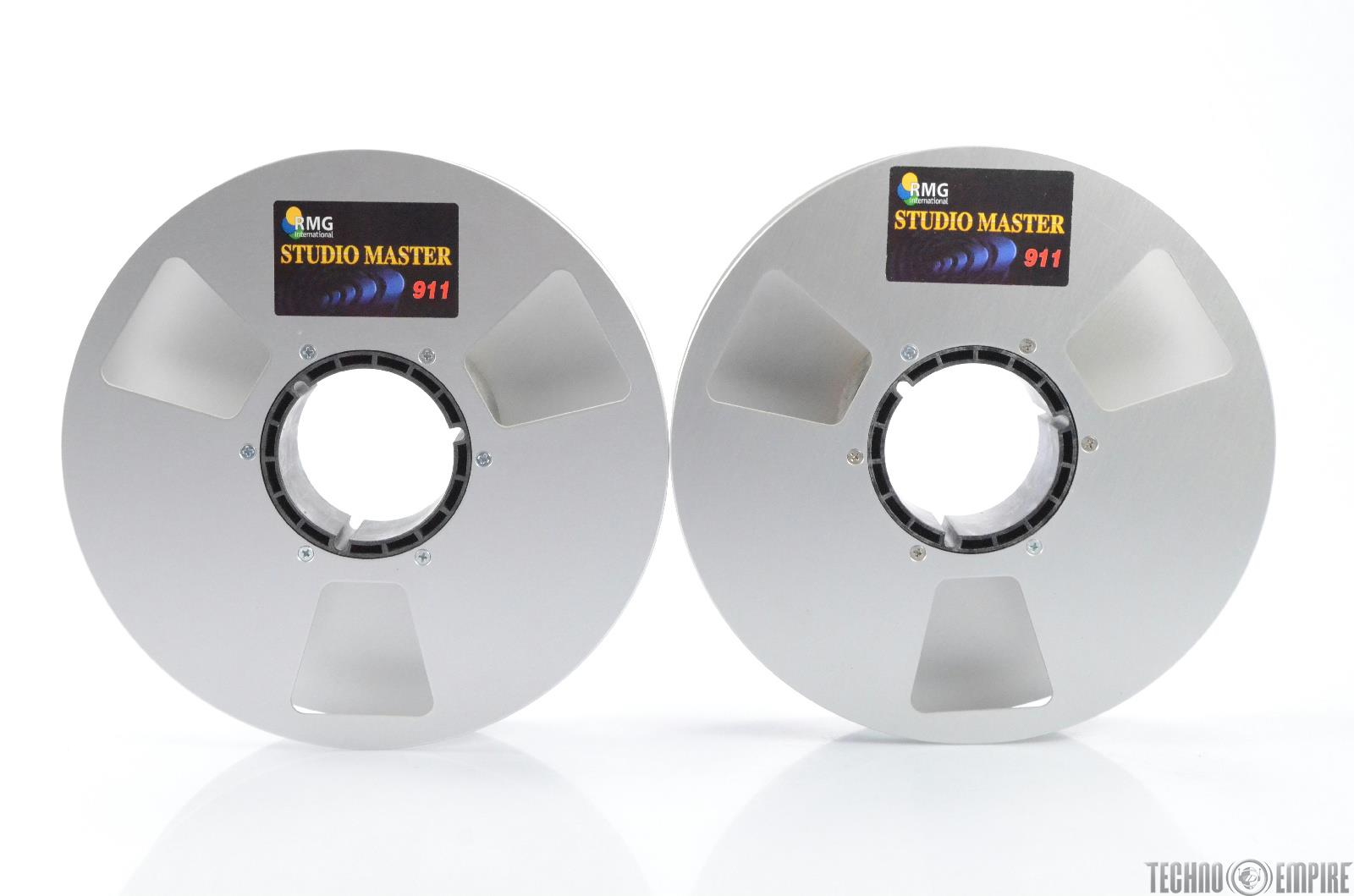 "RMG Studio Master 911 2"" Empty NAB Take Up Tape Reels Fairfax Recordings #28909"
