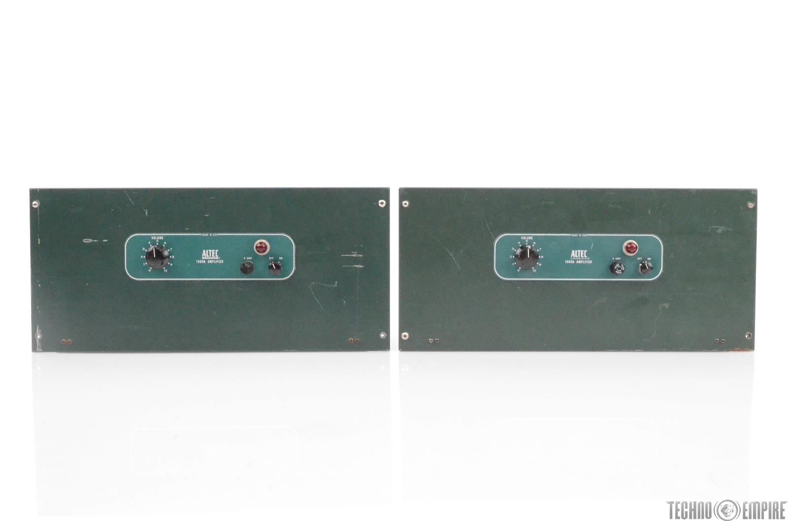 2 Altec 1569A Power Amplifiers w/ 15095A Transformers Fairfax Recordings #28637