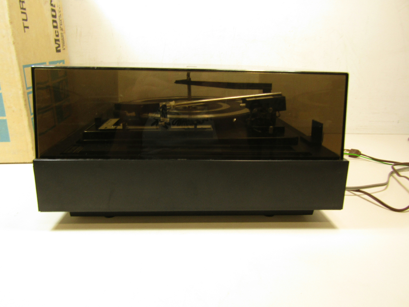 Vintage BSR McDonald Total Turntable Record Player w ...