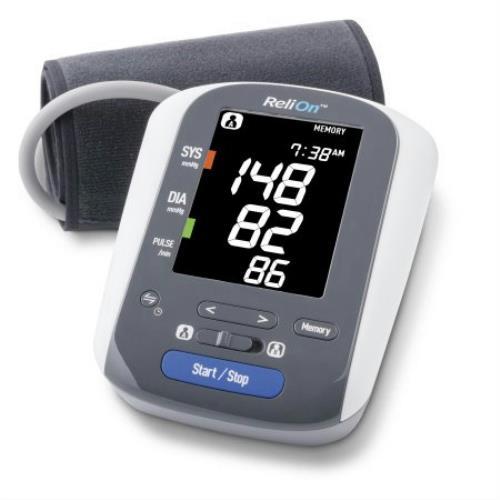 Relion Bp300 Upper Arm Digital Blood Pressure Monitor W Color