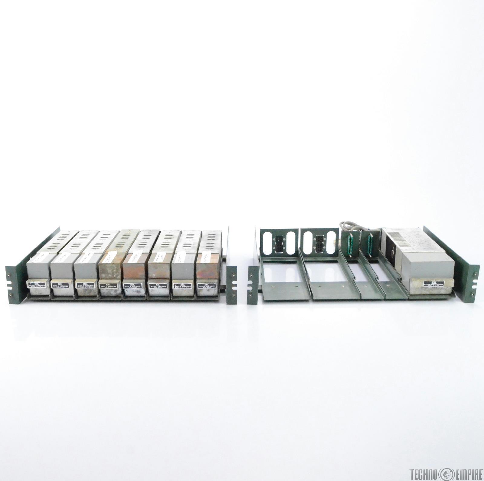 8 Altec 9470 A Amplifiers & 9550A PSU w/ 9800A Frames Fairfax Recordings #28582