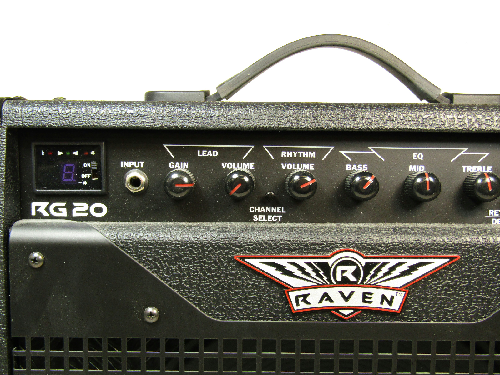 raven rg20 black 20 watt 6 ohm electric guitar combo amplifier w cords ebay. Black Bedroom Furniture Sets. Home Design Ideas