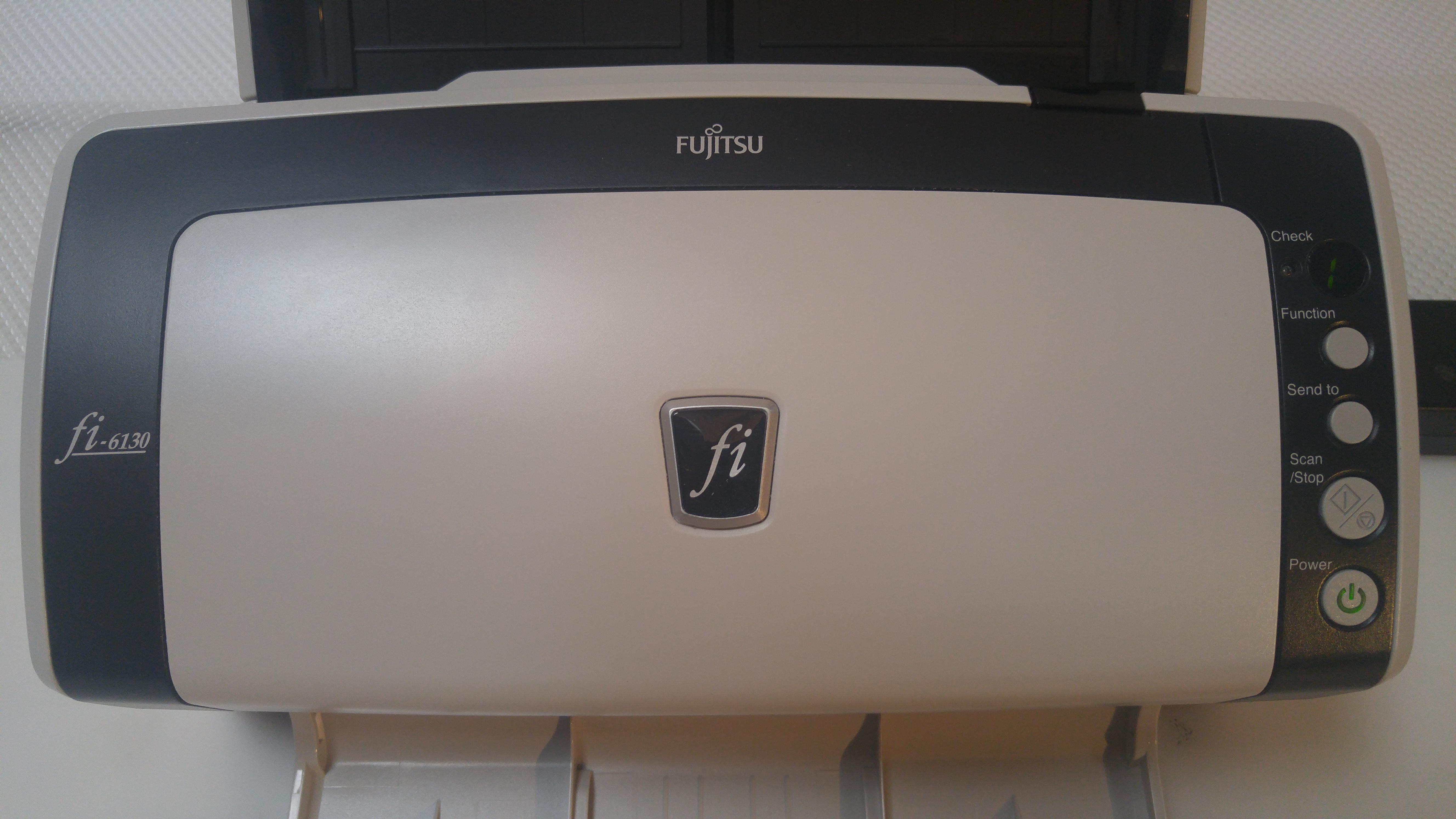 Fujitsu Fi 6130 Scannar Warranty Refurbished With New Feed