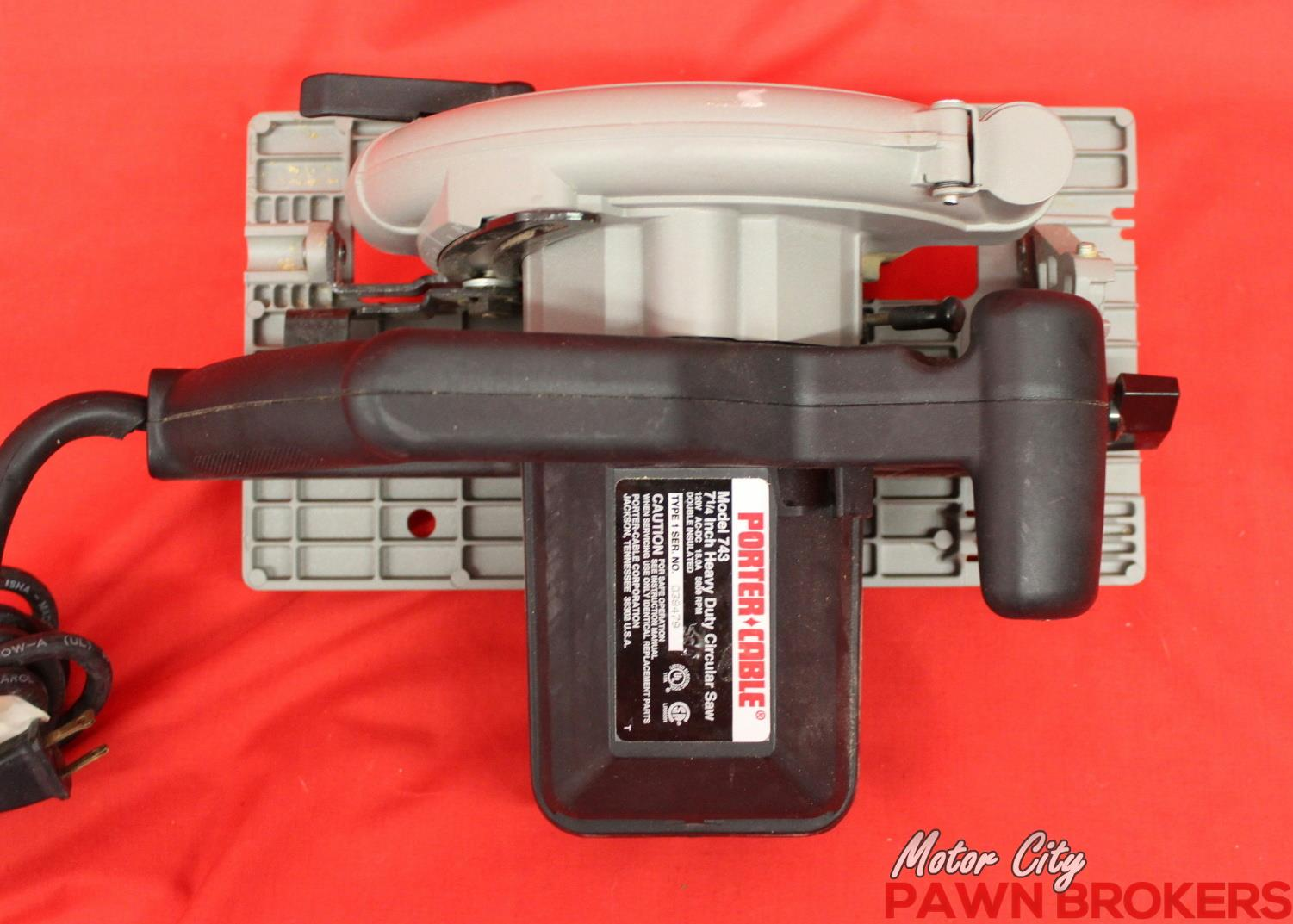 Porter cable 743 left blade 7 1 4 blade 5800 rpm for Motor city pawn shop
