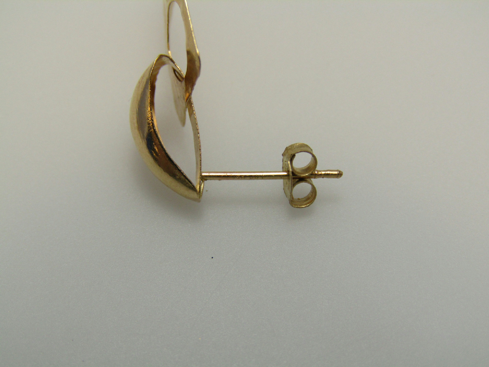 14k yellow gold jewelry stud dangle earrings hammered. Black Bedroom Furniture Sets. Home Design Ideas