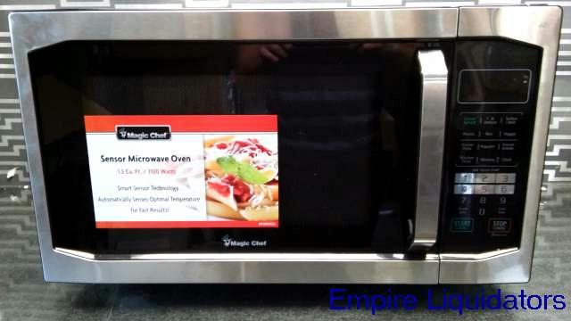 Magic Chef 1 5 Cu Ft 1100 Watt Countertop Microwave Oven