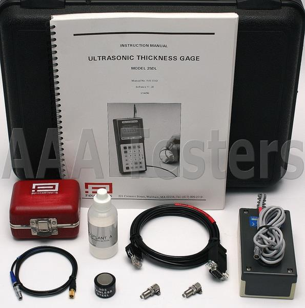 panametrics olympus 25dl mm ultrasonic thickness gage gauge 25 dl ebay rh ebay fr Owner's Manual User Manual PDF