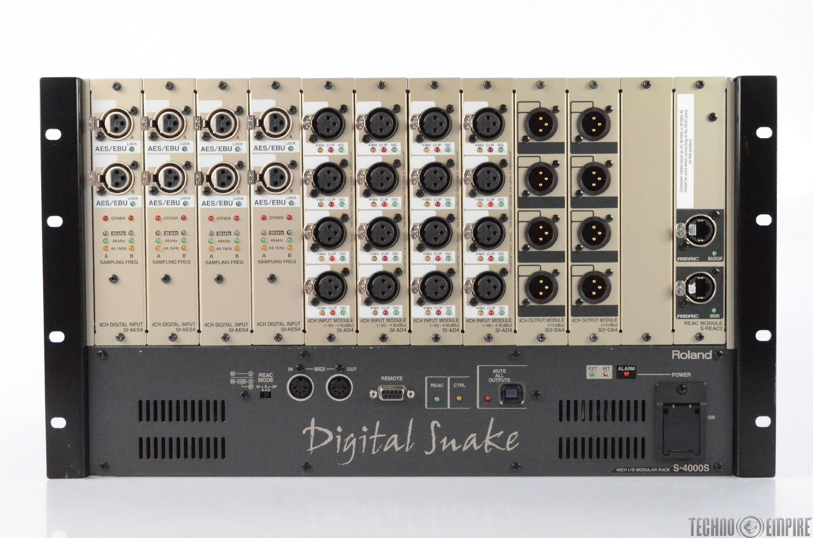 Roland S-4000S Digital Snake 40 Channel I/O Modular Rack #28922