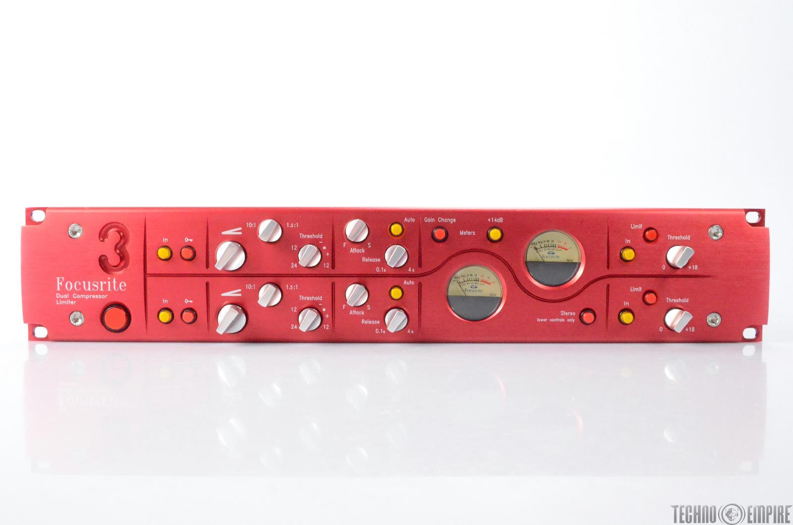 Focusrite Red 3 Dual Channel Compressor Limiter Grandmaster Recorders #28718