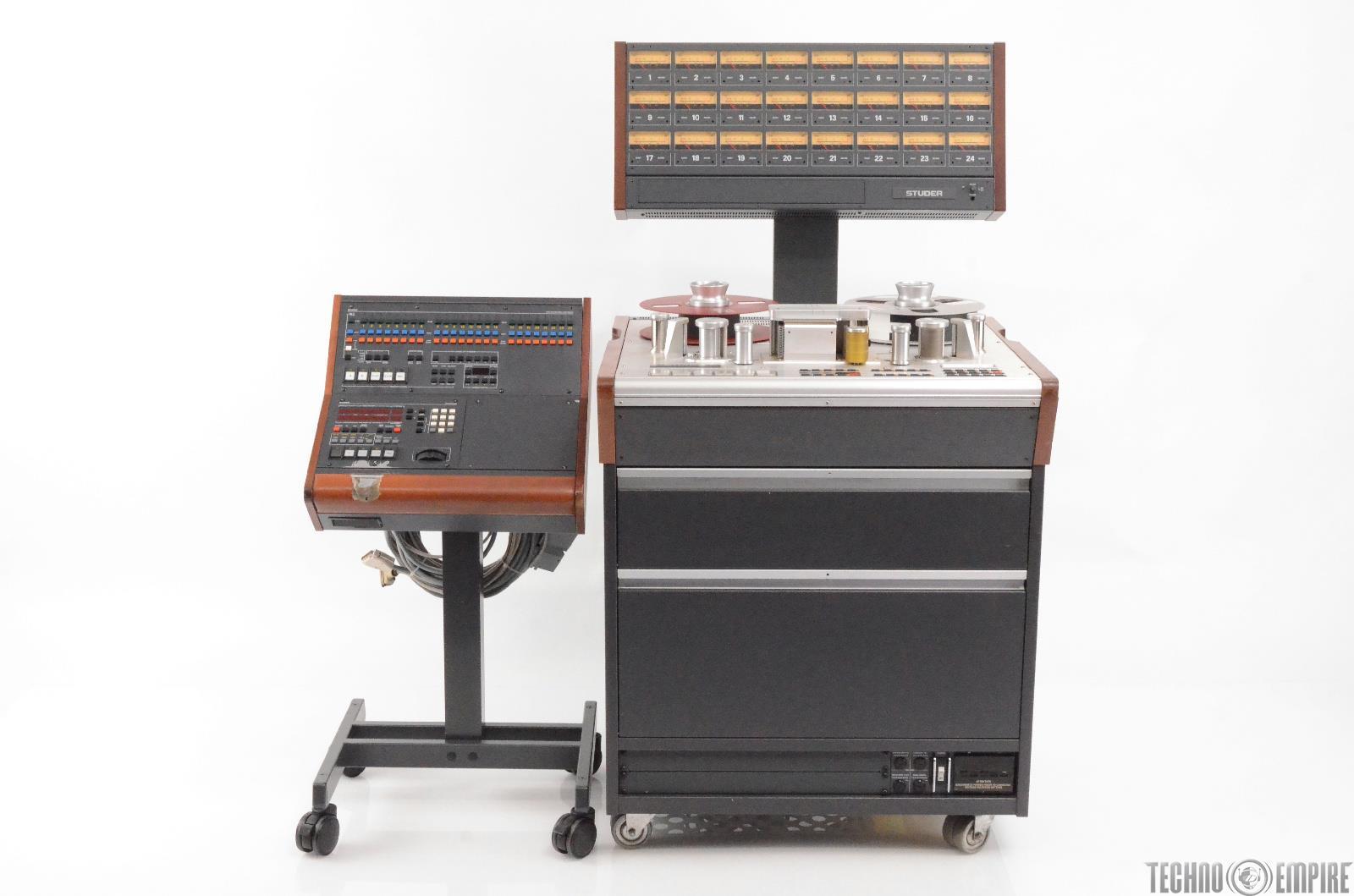 """Studer A827 24 Track 2"""" Tape Machine w/ Remote Grandmaster Recorders #28704"""