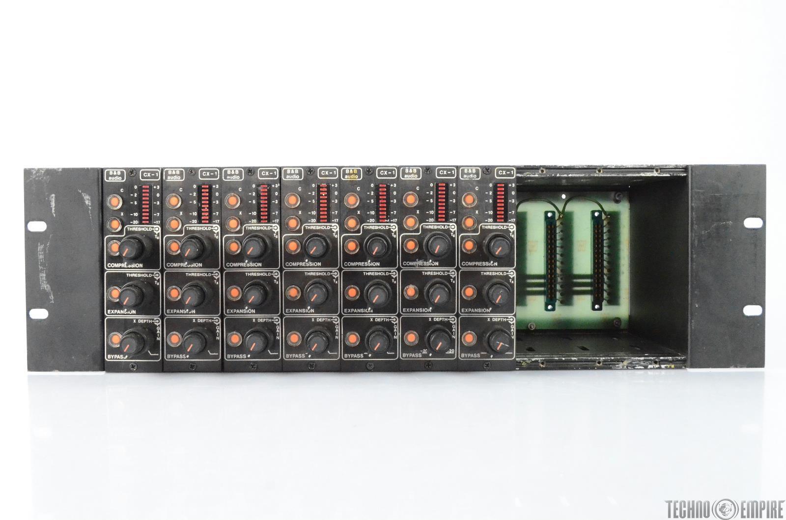 7 B&B Aphex CX-1 Compressor Expanders w/ Rack Grandmaster Recorders #28810