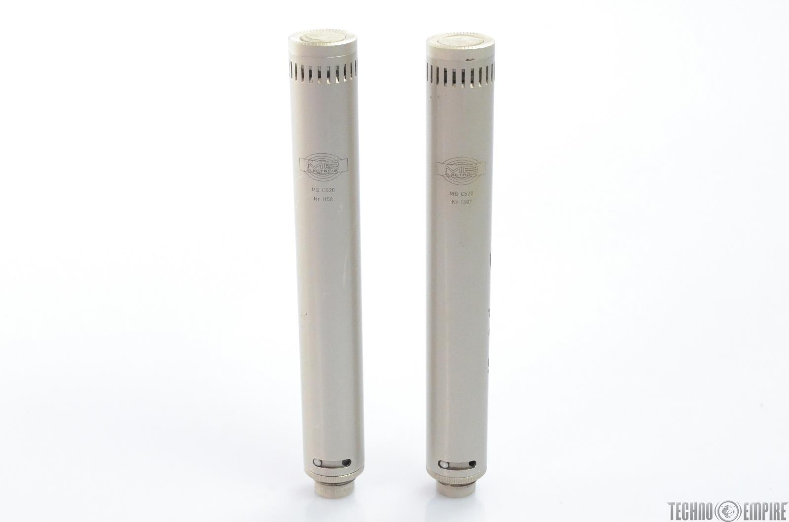 2 MB Electronic MB C520 Condenser Mic Pair MBHO Grandmaster Recorders #28895