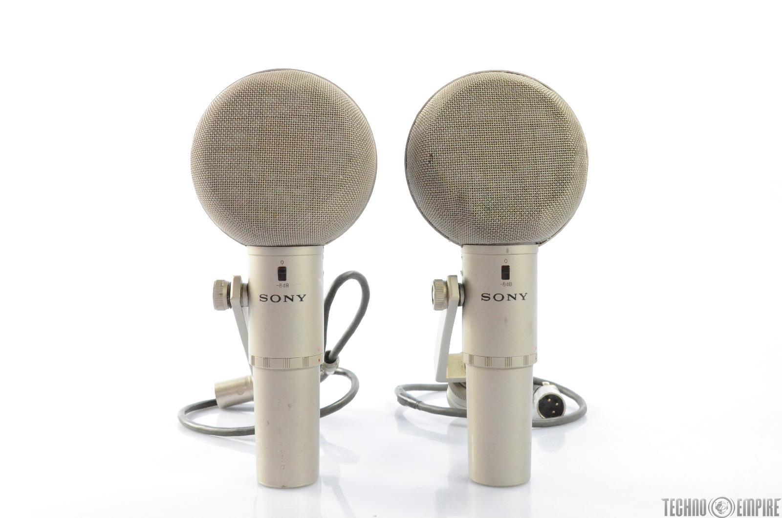 2 Sony C-500 Studio Condenser Microphones w/ Power Grandmaster Recorders #28766