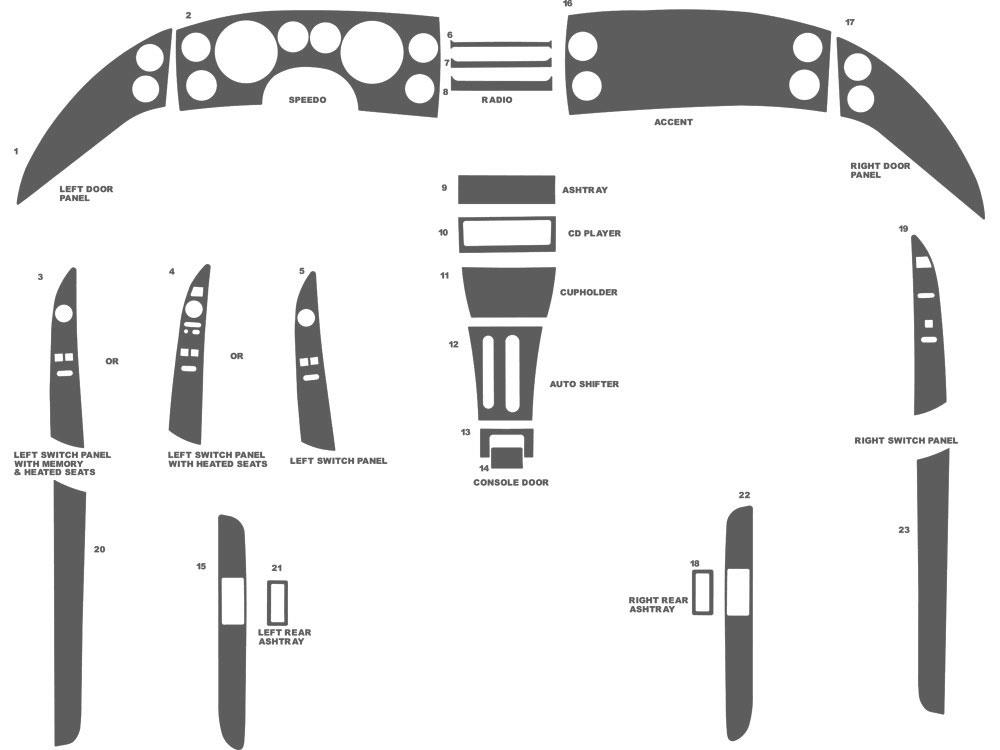 benevento dash kit auto interior trim for buick riviera    roadmaster 1995