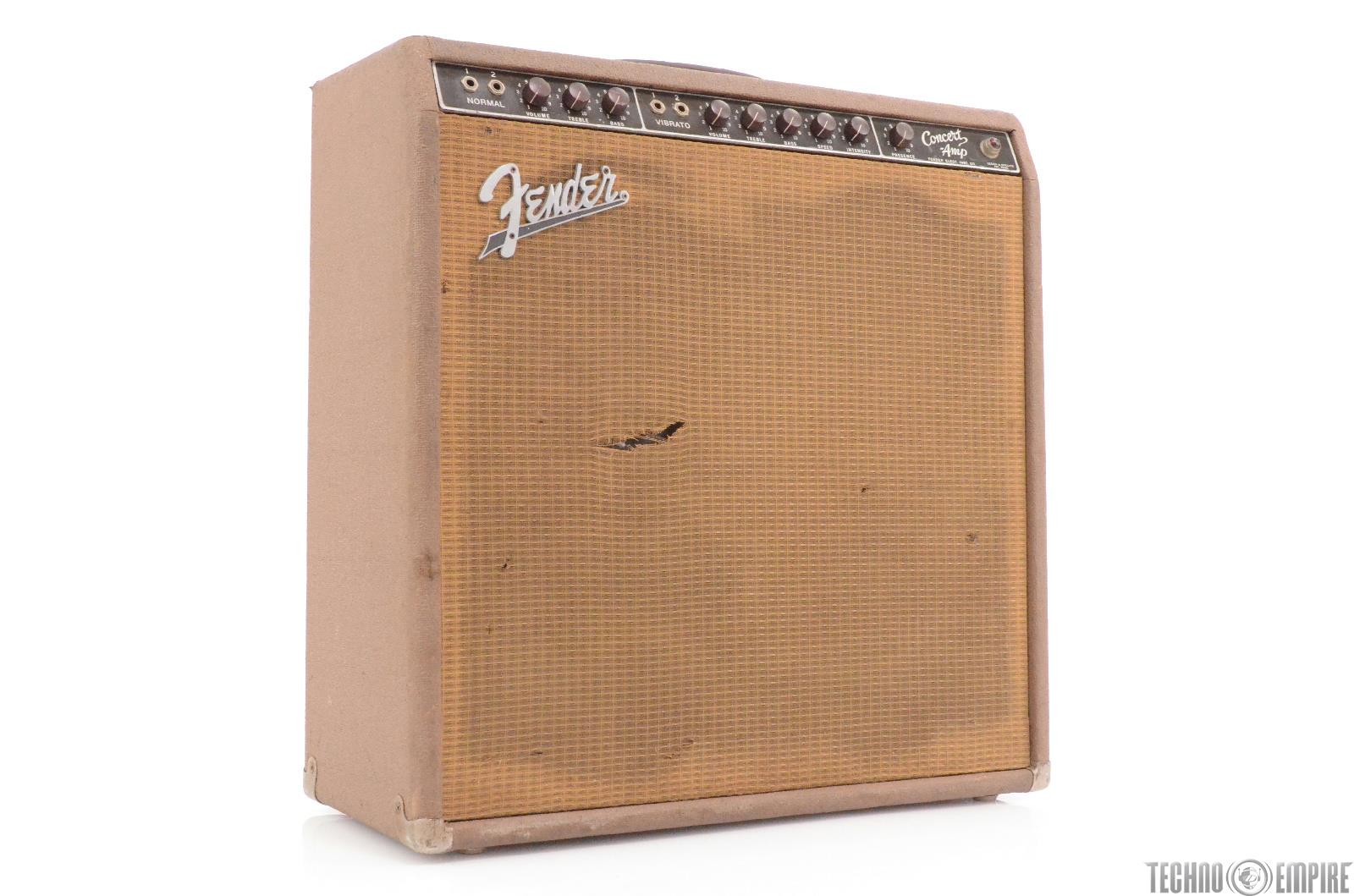 1962 Fender Concert Amp 6G12 Brownface Tube Amplifier 4x10 Combo Serviced 28918 X