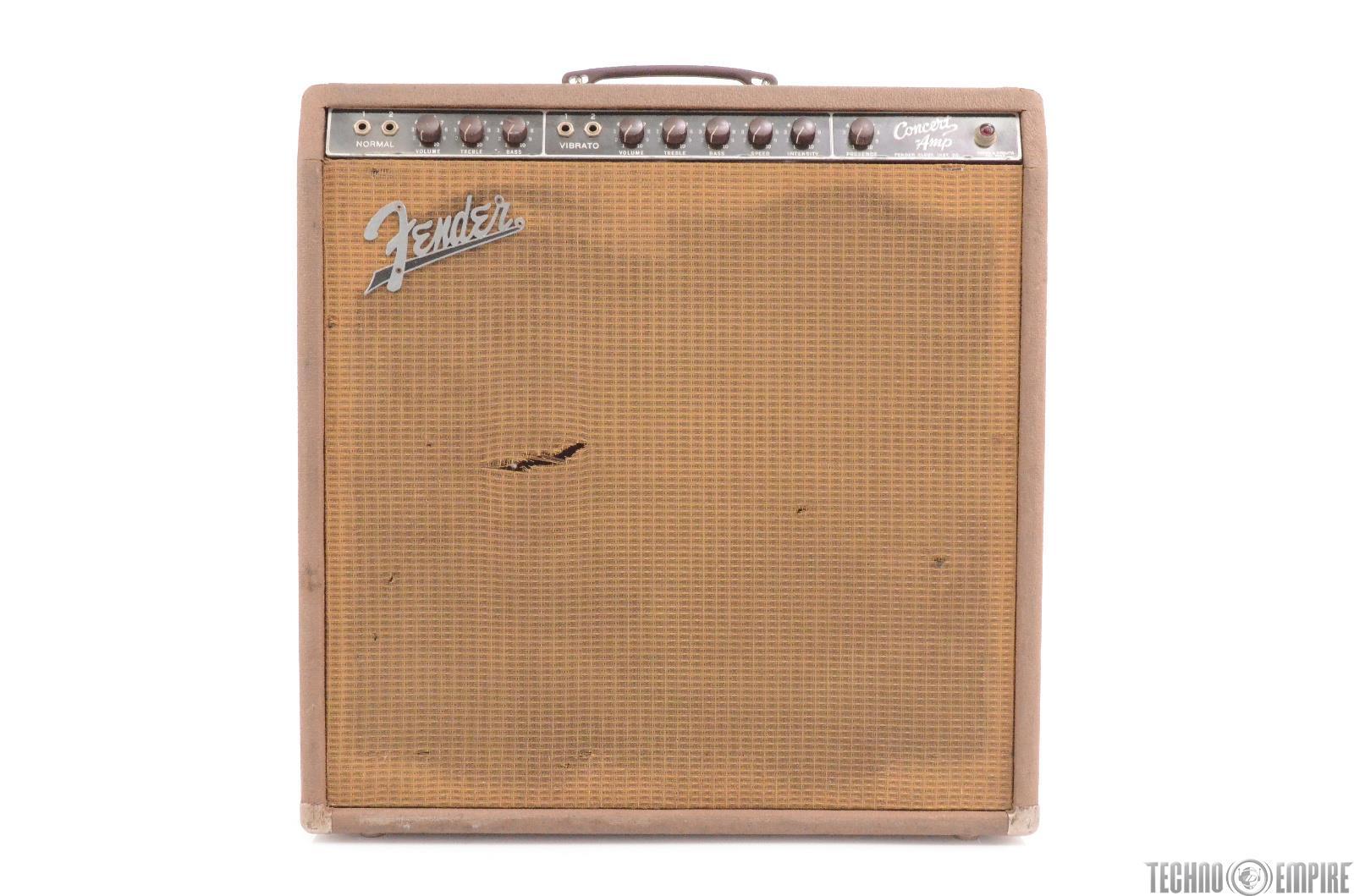 1962 Fender Concert-Amp 6G12 Brownface Tube Amplifier 4x10 Combo Serviced #28918
