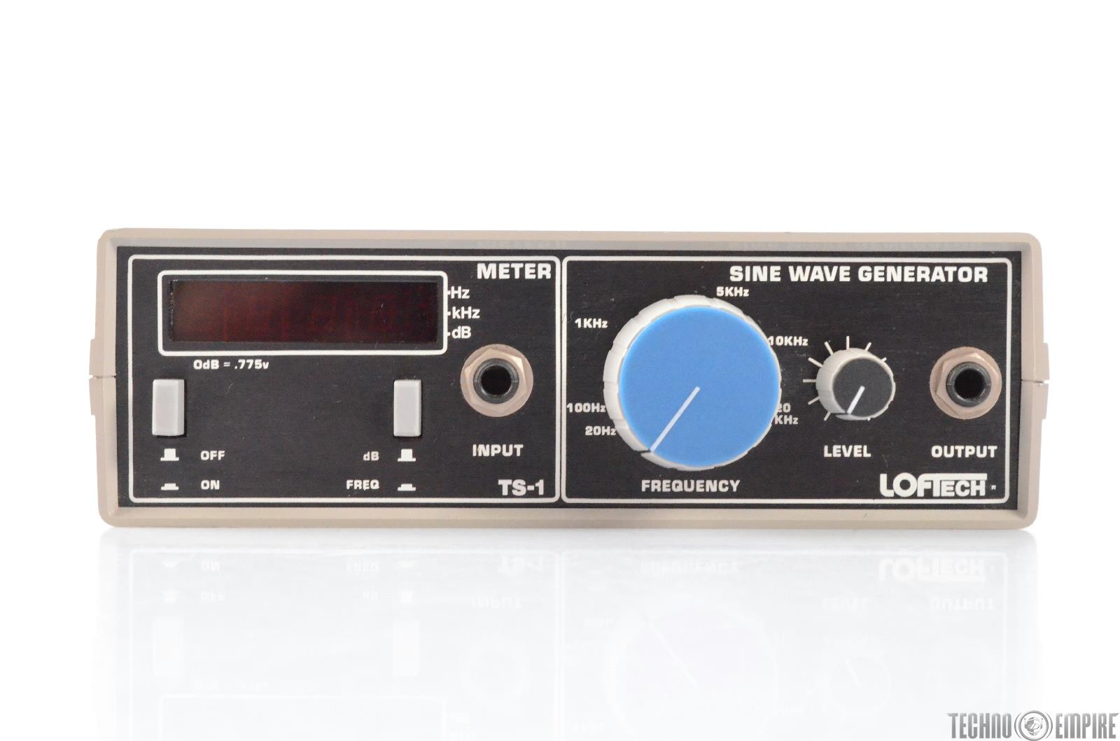 LOFTech TS-1 Sine Wave Signal Generator & Digital Frequency Counter Meter #29273