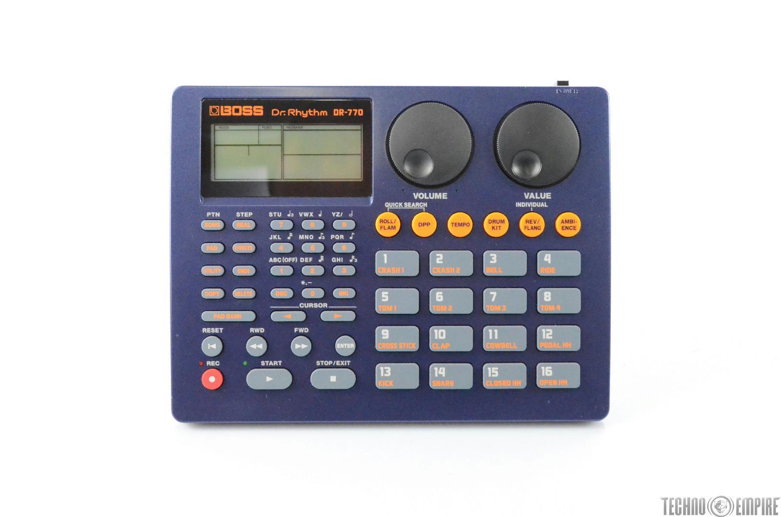Boss DR-770 Dr. Rythm MIDI Drum Pad Machine W/ Original Box #29263