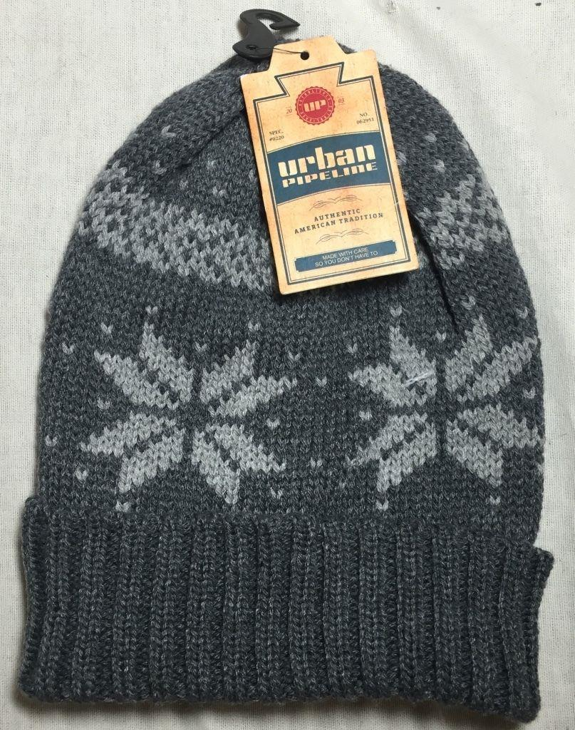 Details about URBAN PIPELINE - MEN S ONE SIZE WINTER NORDIC GREY KNIT  SLOUCHY BEANIE 5e9224da211