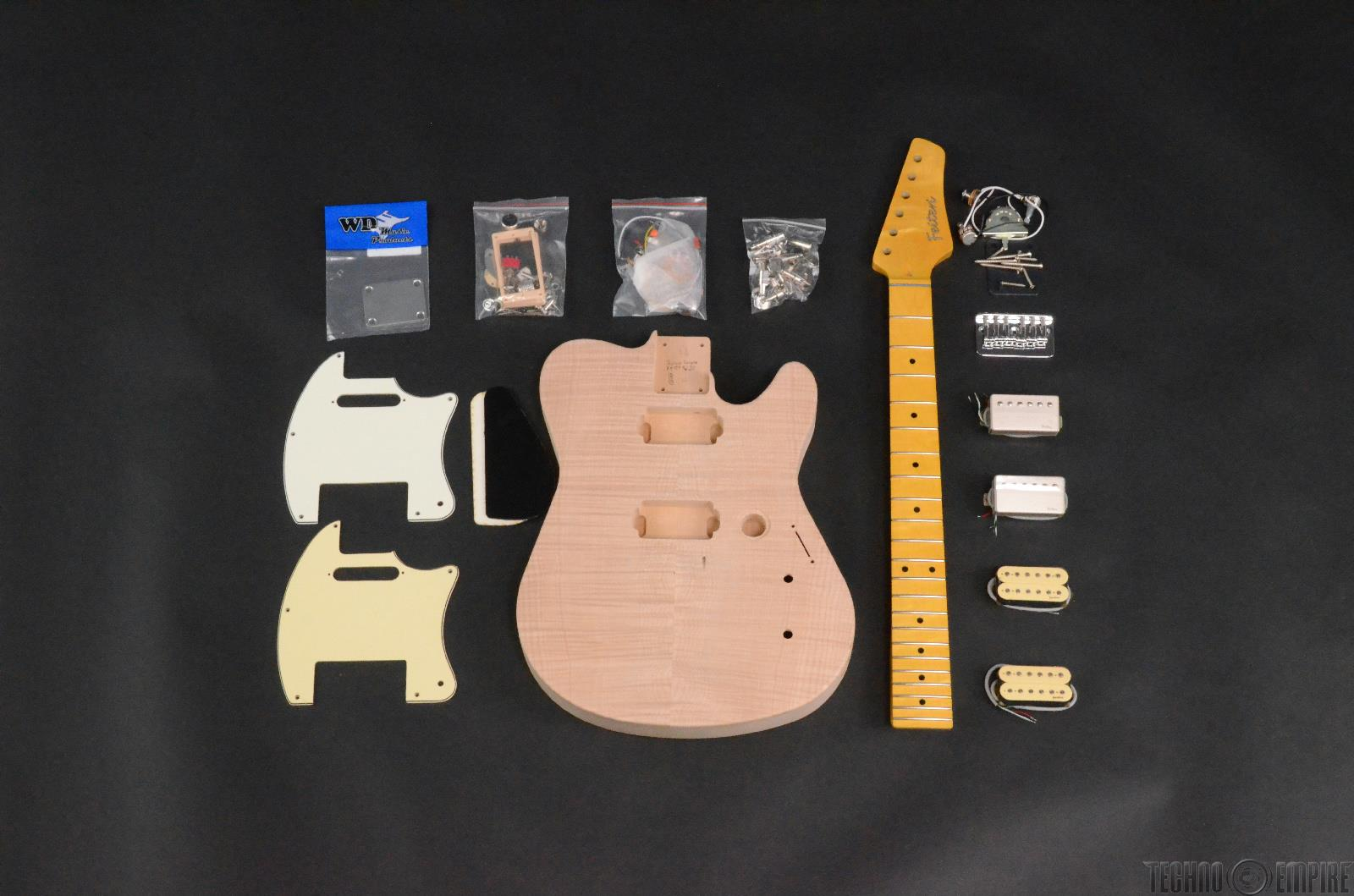Buzz Feiten Gemini Blues Pro DLX Build Your Own Electric Guitar Kit #28420